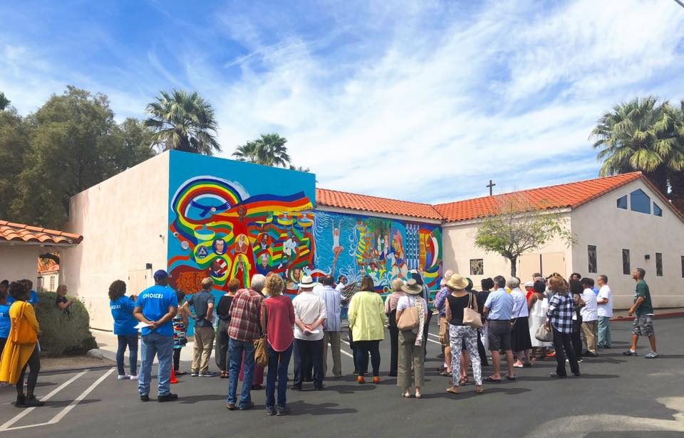 Bernard Stanley Hoyes mural in Palm Springs