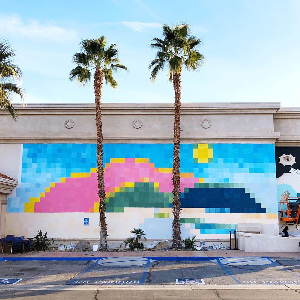 Gabby Velasquez Mural at Palm Springs Cultural Center